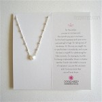 Pearls of ...Necklace White Pearl on Beaded Chain Sterling SIlver / Boxed