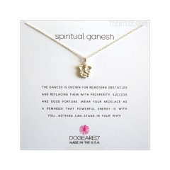 "Spiritual Ganesh Necklace Sterling Silver 2"" Extender Boxed"