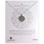 The BALANCE Center Circle Mandala Necklace Sterling Silver Boxed