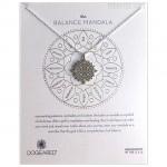 The BALANCE Center Circle Mandala Necklace Sterling Silver Boxed