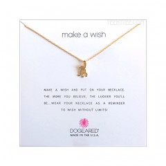 Original Monkey Make A Wish Necklace Gold Boxed