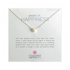 "Pearls of Happiness Sterling Silver Chain 16 + 2"" Extender  Boxed"