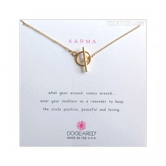 Karma Toggle Necklace Gold Dipped Boxed
