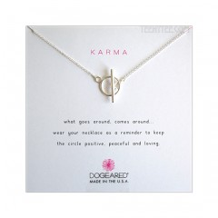 Karma Toggle Necklace Sterling Silver Boxed