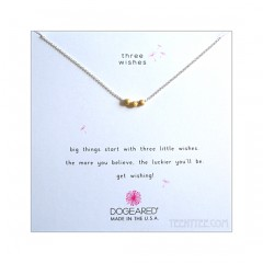 3 Wishes Stardust Gold Bead Necklace Boxed