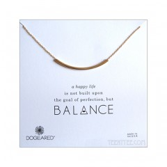 Balance Tube Bar Necklace Gold Boxed