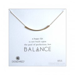 Balance Tube Bar Necklace Silver Boxed