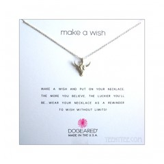 Bull Skull Make a Wish Necklace Silver Boxed