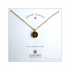 Going Places, Enamel Compass Necklace