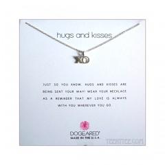 Hugs & Kisses XO charm Necklace Silver Boxed