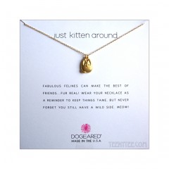 Cute Kitty Charm Just Kitten Around Necklace Gold Boxed