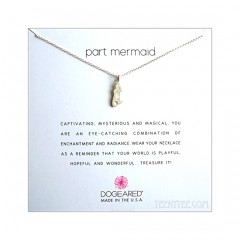 Enchanted Mermaid Charm Part Mermaid Necklace Sterling Silver Boxed