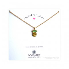 Pineapplicious, Enamel Pineapple Necklace