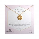 Circle of Abundance Good Luck Charm Necklace Gold