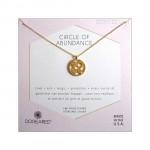 Circle of Abundance Good Luck Charm Necklace Gold