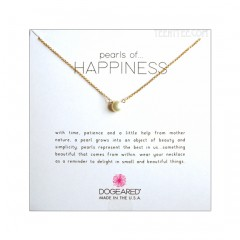 "Pearls of Happiness Gold Dipped Chain 16 + 2"" extender Boxed"