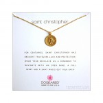 Saint Christopher for Travelers Necklace Gold Dipped / Boxed