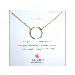 Medium Sparkle Karma Necklace Gold New Version