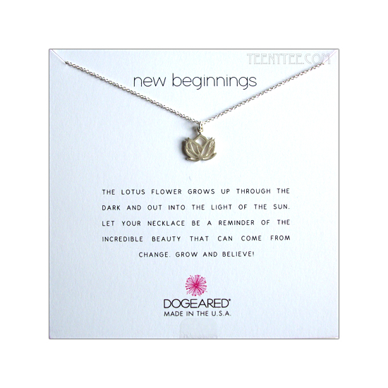 Rising Lotus New Beginnings Necklace Sterling Silver Boxed