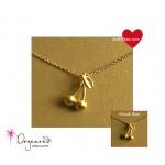 CHERISH Necklace Gold CHERRY charm