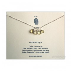 4 Gemstones Optimism & Joy Necklace Sterling Silver