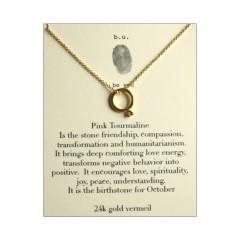 Pink Tourmaline Ring Necklace