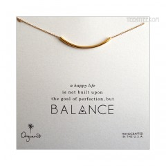 Balance Tube Bar Necklace Gold