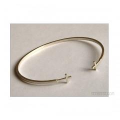 Charmed Cuff 2 Simple Cross Bracelet