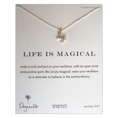 Life is Magical Unicorn Charm Necklace Sterling SIlver