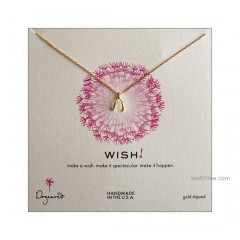 "Wish teeny Necklace Gold dipped 18"" by Dogeared"