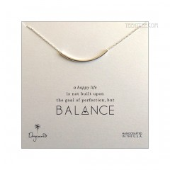 Balance Tube Bar Necklace Silver