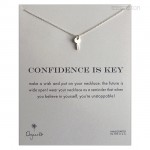 Cute key Confidence is key necklace Sterling Silver