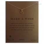 Loving Heart Reminder Necklace Gold