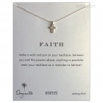 Modern Cross Faith Necklace Sterling Silver