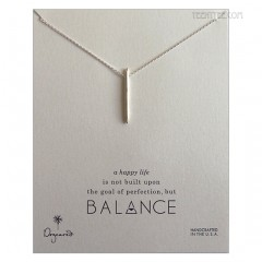 Balance Spiky Spear Necklace Silver
