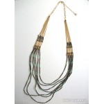 7 Layer Beaded Strand Necklace