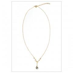 Labradorite and Dangling Peridots Necklace