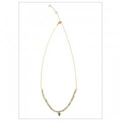 Cross & Labradorite beads Necklace