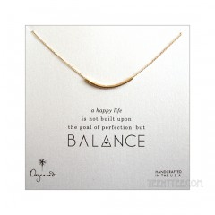 "Balance Smooth Bead Necklace Gold 15"" Custom"
