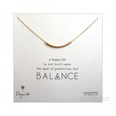 "Balance Smooth Bead Necklace Gold 15"" Custom"