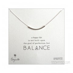 "Balance Smooth Bead Necklace Silver 15"" Custom"