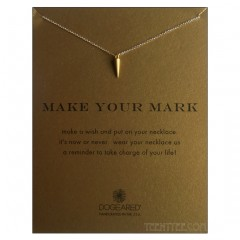 Make Your Mark Necklace Spike Charm Gold Boxed