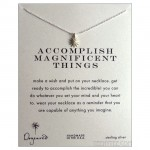 "Accomplish Necklace Starburst Sterling Silver Charm 16"" chain"