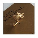 Unicorn Ring Gold Vermeil