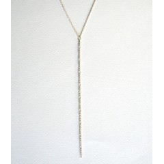 Be Your Own...Box Chain Y Necklace Silver