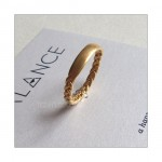BALANCE Braided Bar Ring Gold Vermeil