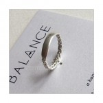 BALANCE Braided Bar Ring Sterling Silver