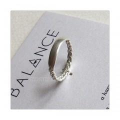 BALANCE Braided Bar Ring Sterling Silver