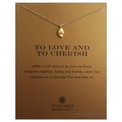 Day of the Dead Skull Love & Cherish Gold