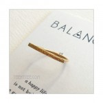 Balance Horizontal Bar Ring Gold Vermeil